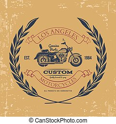 Motorcycle vintage graphics, t-shirt typography, Vintage....