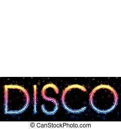Disco Abstract Rainbow on Black Background