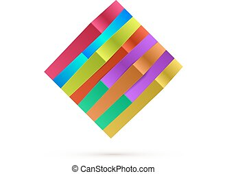 Abstract Square Logo For Your Business. Vector