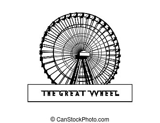 Silhouette of an amusement park attraction.