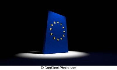 EU collapse flag Europe European Union