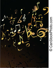 music Abstract background - Vector illustration of black...