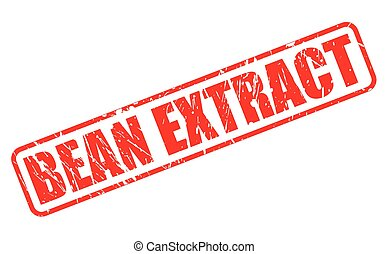BEAN EXTRACT red stamp text on white
