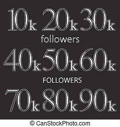 Vector design template for network friends and followers -...