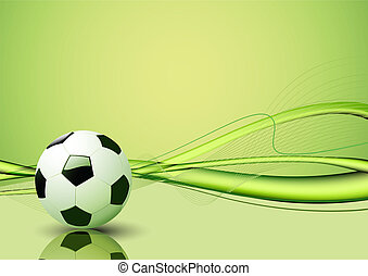 soccer ball - Vector illustration of green abstract lines...