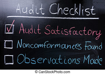 Audit Checklist On Blackboard