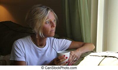 Woman By Window Light