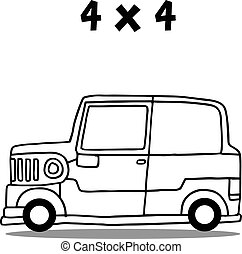 Jeep transport collection vector art