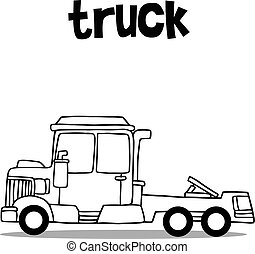 Truck transport collection with hand draw