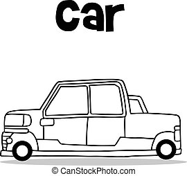 Transport collection of car hand draw
