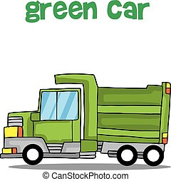 Transport collection of green truck