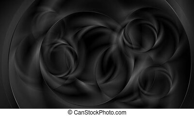 Black abstract futuristic smooth circles video animation -...