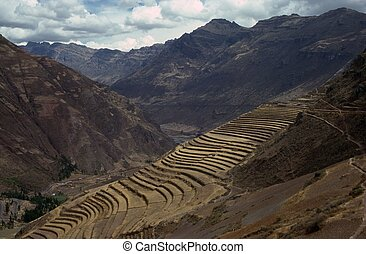Terracing in Pisac, Peru