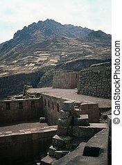 Inca ruins in Pisac, Peru