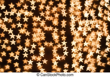 Blurring lights bokeh background of stars