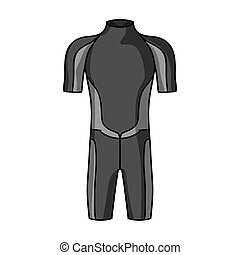 Wetsuit icon in monochrome style isolated on white...