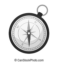 Compass icon in monochrome style isolated on white...