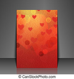 Graphic illustration. - Template flyer with love background.