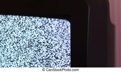 Television static noise black white - Noise gray on old TV...