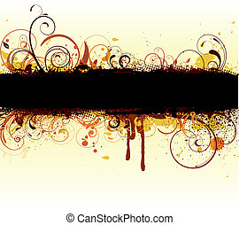 Floral Decorative banner - Vector illustration of styled...
