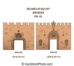 The Gates of Jerusalem, Dung Gate, Zion Gate - The gates of...