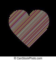Heart modern line -variable line-