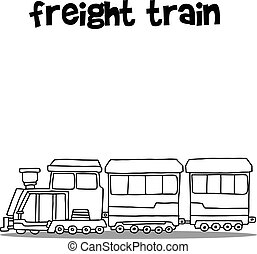 Freight train of transport collection