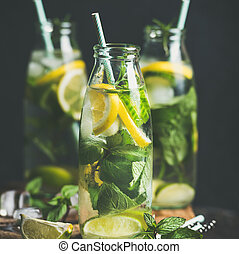 Citrus fruit and herbs infused sassi natural water, square...