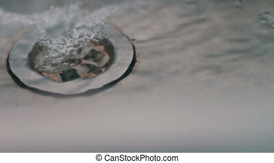 Water drains in the sink - Iron Sink with rust on the inside...