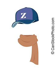 Hat. Contemporary Sport Violet Cap with Z Letter - Hat....
