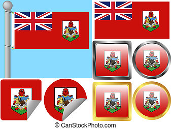 Flag Set Bermuda
