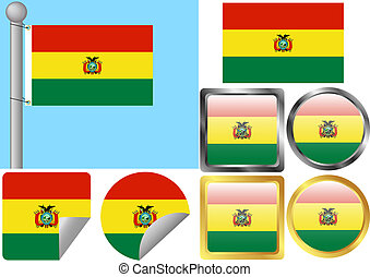 Flag Set Bolivia