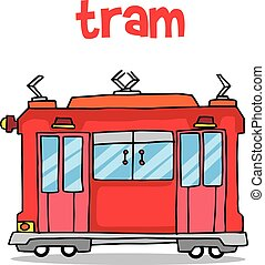 Transport of tram vector illustration