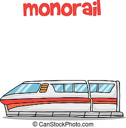 Transport of monorail collection stock vector illustration