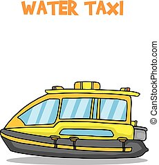 Yellow water taxi of transport collection