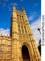 Westminster tower near Big Ben in London