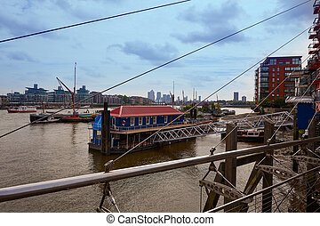 London Thames river boats England - London Thames river...