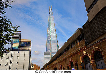 London shard view from old brick buildings - London shard...