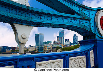 London Tower Bridge over Thames river in England