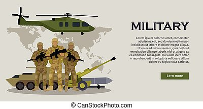 Armed Forces Vector Concept in Flat Design - Different types...