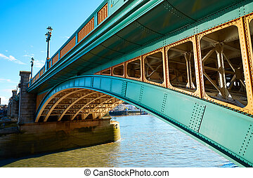 London Southwark bridge on Thames river at UK