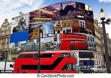 Piccadilly Circus London digital photomount - Piccadilly...