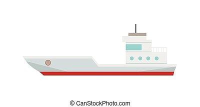 Commercial Container Ship - Commercial container ship in...
