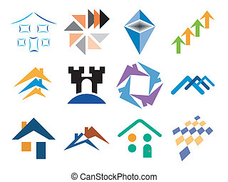 Building Themed Vector Designs - Building and Home Themed...