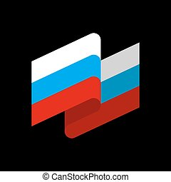 Russia flag ribbon isolated. Russian tape banner. state...