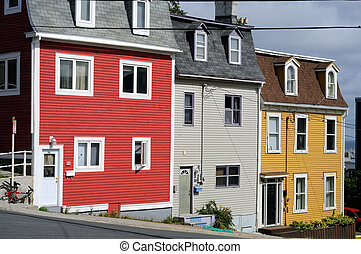 St Johns Newfoundland Houses - Brightly Coloured Houses Of...