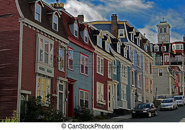 St Johns Newfoundland Street - Colourful Old Houses In St...