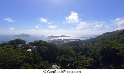 Aerial View Of Mountains And Ocean from Sans Souci Viewpoint, Seychelles 2