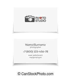 Photo studio card. Perfect for your business design. Vector illustration