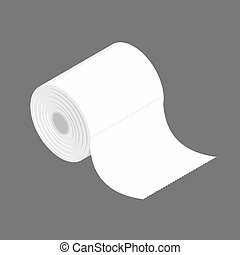 bumf isolated. Roll of toilet paper. bumph